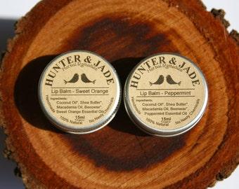 Lip Balm - Sweet Orange - Peppermint - 100% Natural - Handmade - No Nasty Chemicals - Perth Western Australia