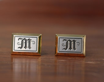 Vintage Initial M Cuff Links