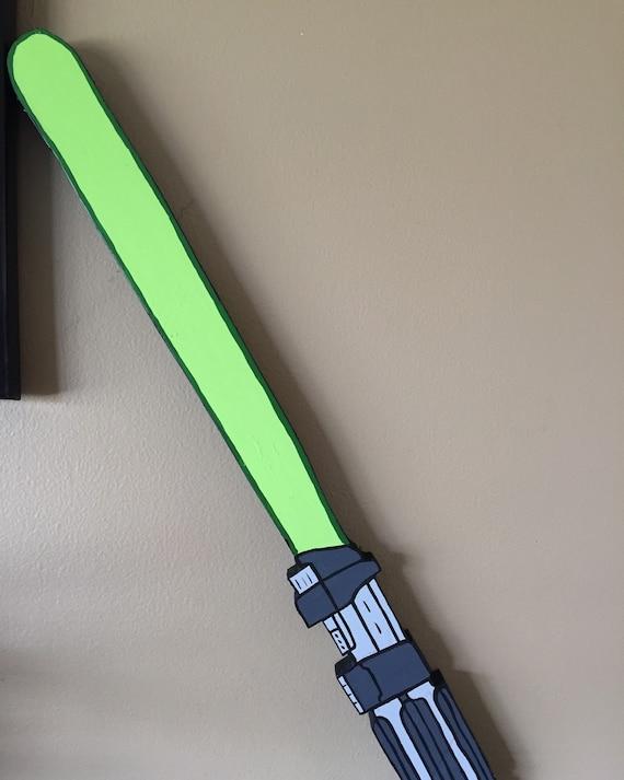 Star Wars Light Saber Green Bedroom by KingsDecorativeSwing