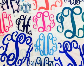 DIY Iron On Monogram - Vinyl Monogram Shirt Decals