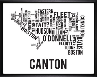 Canton Baltimore Neighborhood Map Print