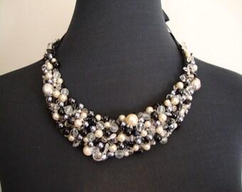 Beautiful and elegant bib necklace