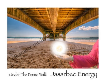 Under the boardwalk with Jasarbec healing energy, comes with full instructions on how to use Jasarbec energy.