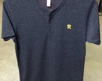 HENLEY T-SHIRT/Flaming R