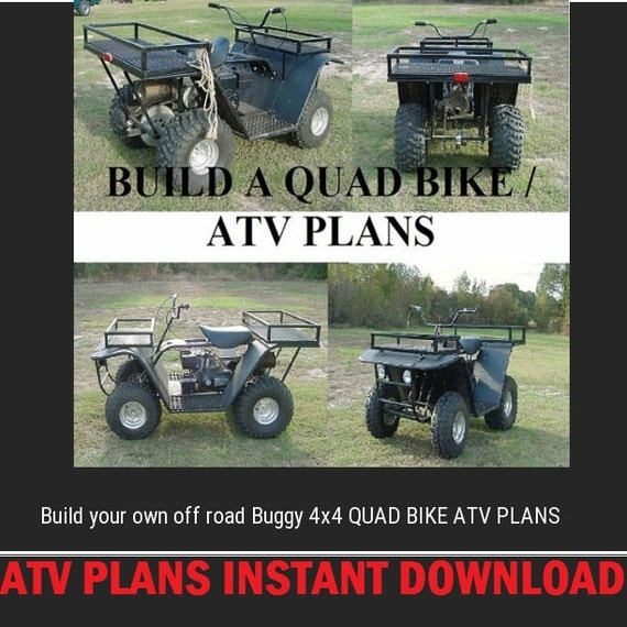 Build your own off road buggy 4x4 QUAD bike ATV Digital instant DOWNLOAD
