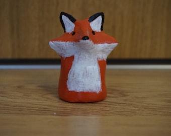 50% SALE: Small clay fox animal totem figurine