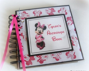 NEW Custom PERSONALIZED  Disney Autograph Book Scrapbook Travel Journal Vacation Photo Book