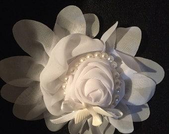 Wedding Flower Hair Bow
