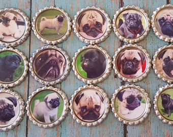 PUGS Geocaching SWAG Geocoin Geocap Great for Small Cache Dogs I love images