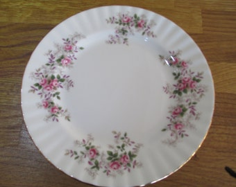 royal albert lavender rose side plates. unused. fine bone china