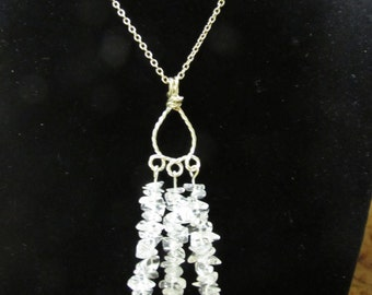 Gorgous Stone Hand-Crafted Necklace on a Siver Chain