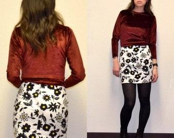 LAST CHANCE! Vintage floral skirt