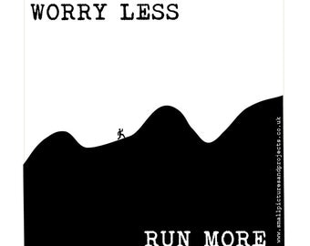 Runner's card - Worry less, Run more