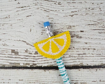 Citrus Pencil Topper - Classroom Prizes - Party Favor - Party Supplies - Small Gift - Lemon - Birthday Party - Summer Party - Back to School