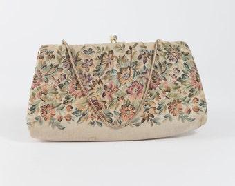 Vintage Floral Evening Bag