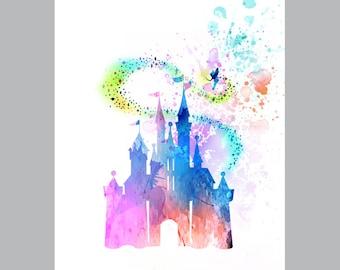 Disney castle / Cinderella's Castle  / instant download / printable art / poster art