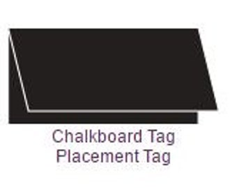 10 Pack of Chalkboard Tag Placement Tag
