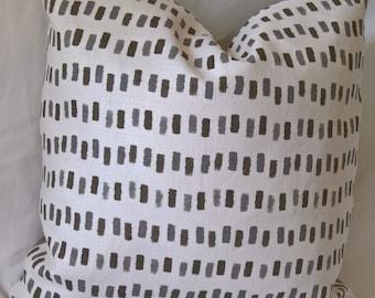 Lee Jofa Blithfield & Company Westbury Linen Custom Pillow with Feather Insert 18X18!