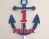 Nautical Cake Topper | Anchor Cake Topper | Nautical Party Decor | Anchor Party Decor | Nautical Anchor Name