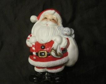 ceramic Santa bank
