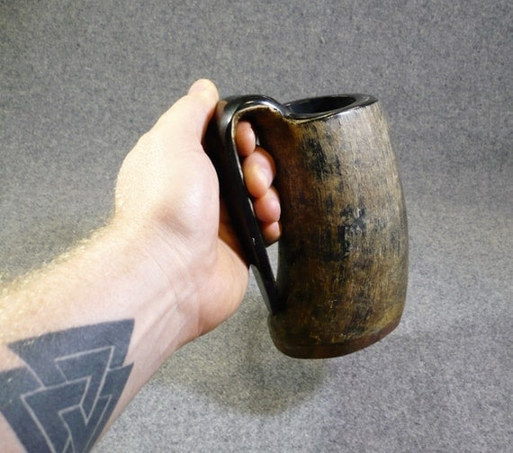 how to make a drinking horn mug