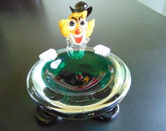 Murano Glass Clown Candy/Change Dish