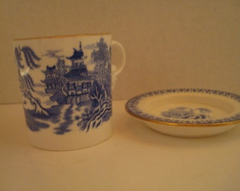 Oriental style demitasse cup and saucer