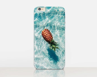 Pineapple Beach Phone Case For- iPhone 8, 8 Plus, X, iPhone 7 Plus, 7, SE, 5, 6S Plus, 6S, 6 Plus, Samsung S8, S8 Plus, S7, S7 Edge