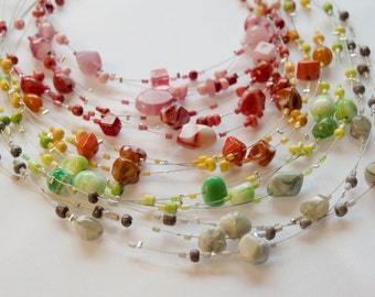 Glass Beads on Wire
