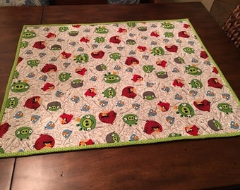 Stroller and Car Seat quilts with Angry Birds