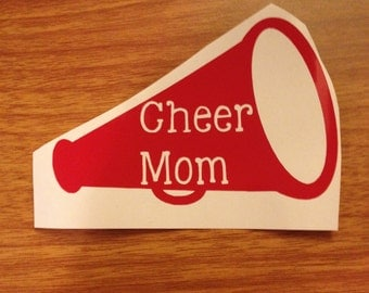 Cheer Mom Megaphone Iron-On Decal~Glitter Iron On Decal~ Cheer Mom