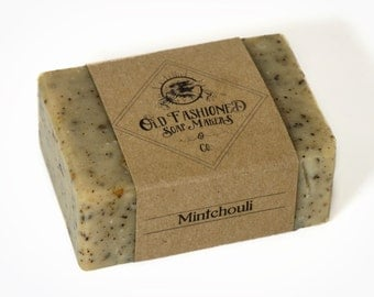 Mintchouli (Patchouli + Mint Soap) / Essential Oil Soap / Handmade Cold  Process Soap / Vegan Soap