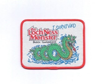 Vintage The LochNess Monster Roller Coaster Busch Gardens Patch