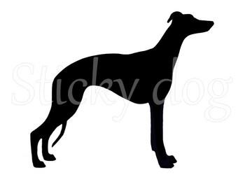 Whippet silhouette sticker