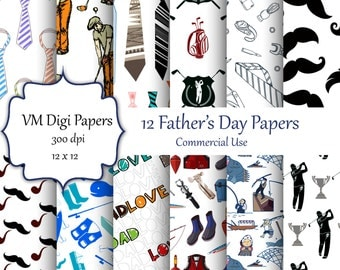 Father's Day Digital Paper, Fathers Day Paper, Dad Papers, Dad, Digital  Papers, Digital Paper, Fathers Day Background,  #5869