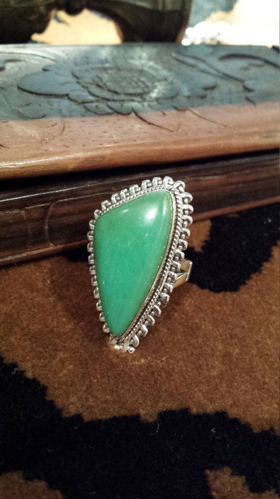 Sterling silver native American turquoise ring