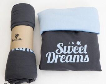 ON SALE Sweet Dreams Baby boy / girl Blanket / Organic newborn / Organic Blanket / Egyptian cotton