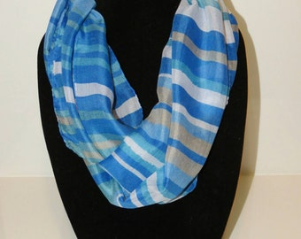 Blue Striped Scarf