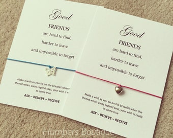 Good friends wish bracelet