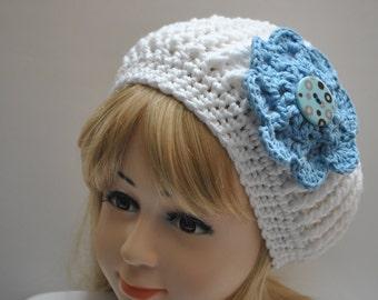 Winter Fall Hat, Crochet Girls Hat, Winter Hat, Beret, Slouchy,Hats for girls