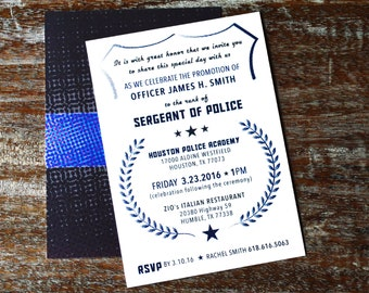 Police Promotion Invitations, Set of 30
