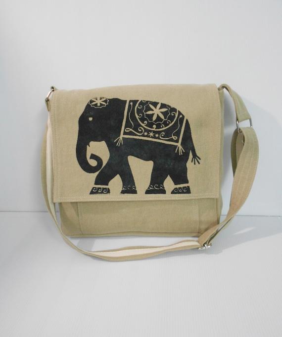 chino messenger bags elephant bag school by unicraftbag on
