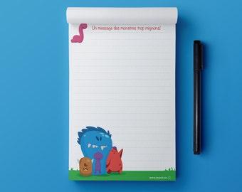 Notepad - Cute Monsters