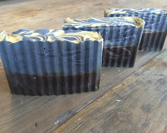 Harry Potter:  Dragon's Blood Sandalwood, Bamboo, and Activated Charcoal Handmade Cold Process Soap