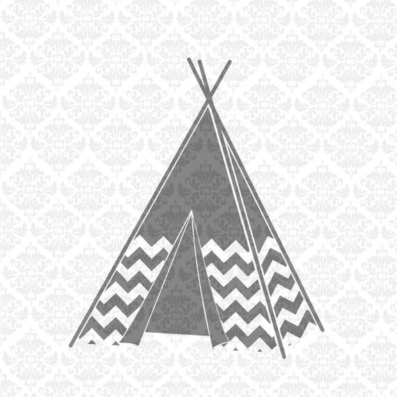 Nature Is Calling TeePee Chevron Camping Tent SVG STUDIO Ai EPS Scalable Vector Instant Download Commercial Use Cutting Cricut Silhouette