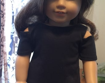 Doll clothes doll skirt doll shirt 18 inch doll outfit open shoulder t-shirt