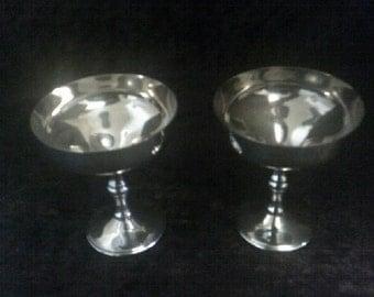 Canadian EPNS Silver Goblets 2 of