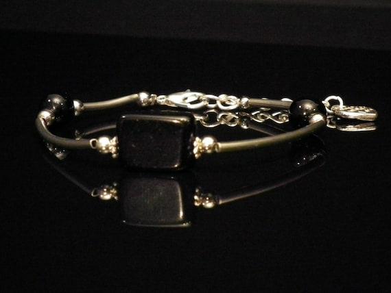 Onyx tube bracelet