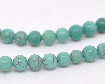 """Wholesale 5 Strands 16"""" Turquoise Beads 6mm Dia"""
