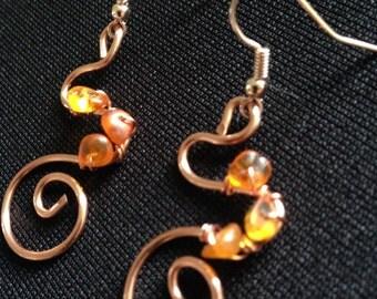 Copper swirls and amber